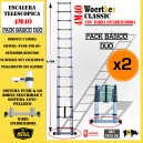 ESCALERA TELESCOPICA 4M40 - PACK DÚO