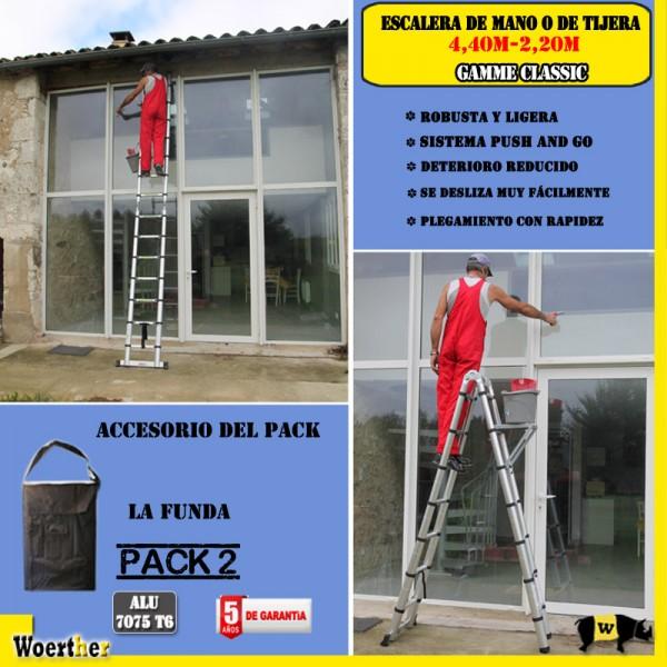 Escalera de tijera telesc pica fabricada en aluminio - Escaleras de aluminio baratas ...