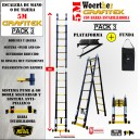 PACK 3 5M Escalera Telescopica GRAFITEK