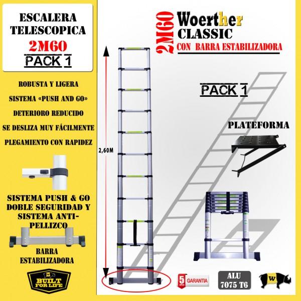 Escalera telesc pica fabricada en aluminio anodizado for Escaleras telescopicas aluminio baratas