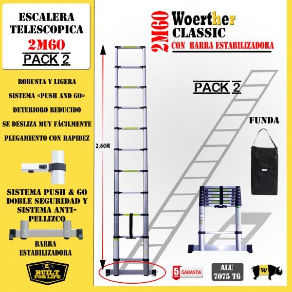 Escalera telesc pica fabricada en aluminio anodizado for Ofertas escaleras de aluminio