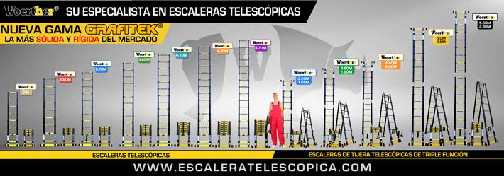 Escaleras telescopicas woerther escaleras telescopicas for Escaleras telescopicas aluminio baratas
