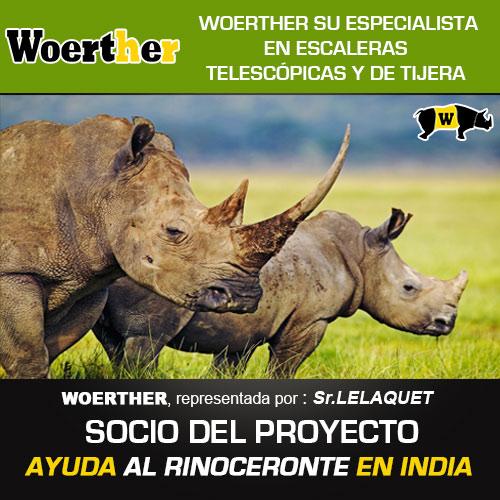 Blanc Marine ,su especialista en bicicletas plegables,participa en la protección de los rinocerontes en colaboración con la FUNDACIÓN INTERNACIONAL DEL RINOCERONTE